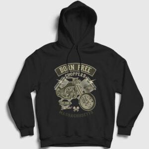 Born Free Choppers Kapşonlu Sweatshirt siyah