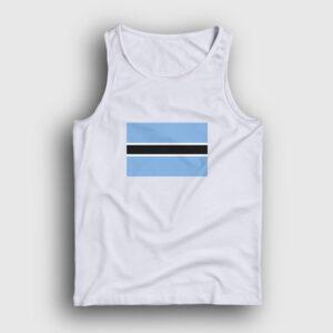 Botsvana Bayrağı Atlet beyaz