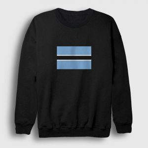Botsvana Bayrağı Sweatshirt siyah