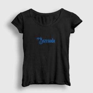 Bozcaada Kadın Tişört siyah