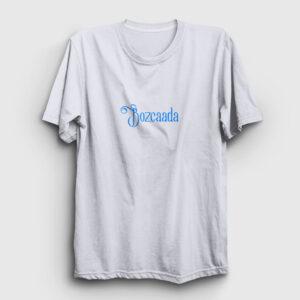 Bozcaada Tişört beyaz