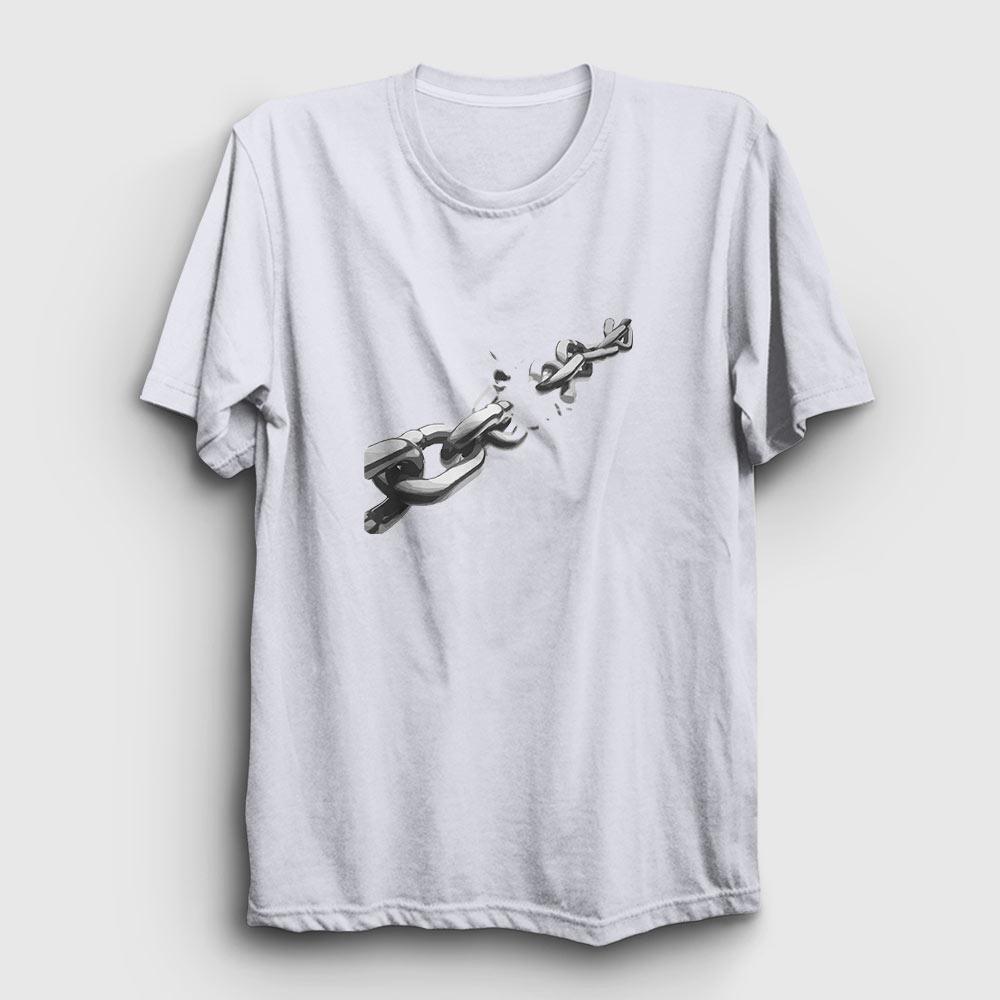 break the chains tişört beyaz