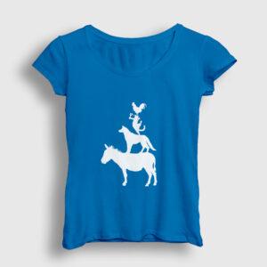 Bremen Mızıkacıları Kadın Tişört açık mavi