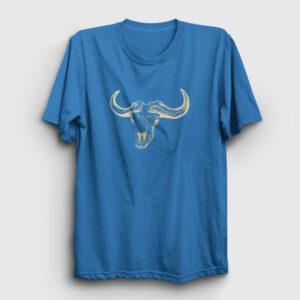 Buffalo Skull Tişört açık mavi