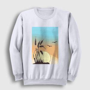 Buğday Sweatshirt beyaz