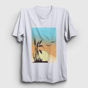 Buğday Tişört beyaz