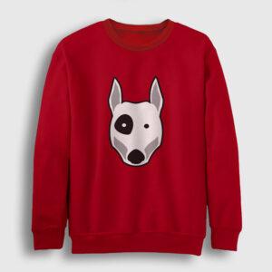 Bull Terrier Sweatshirt kırmızı