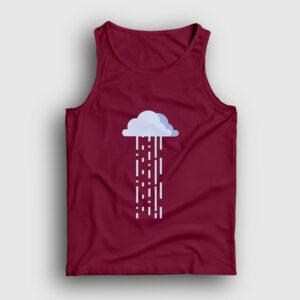 Bulut ve Yağmur Atlet bordo