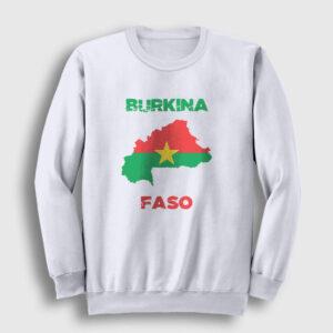 Burkina Faso Sweatshirt beyaz