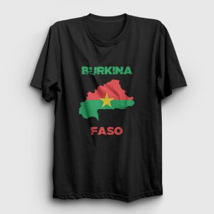Burkina Faso Tişört siyah