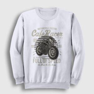 Cafe Racer Sweatshirt beyaz
