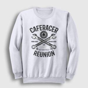 Caferacer Sweatshirt beyaz