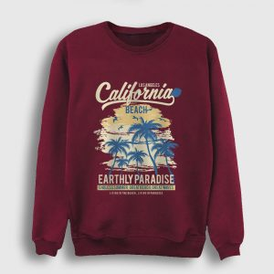 California Sweatshirt - Paradise bordo