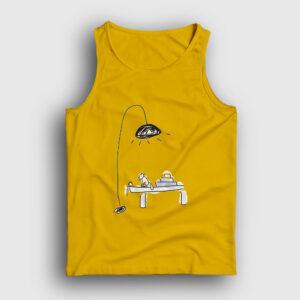 Çalışma Masası ve Kedi Atlet sarı