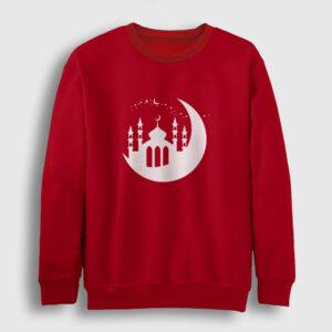 Cami ve Hilal Sweatshirt kırmızı