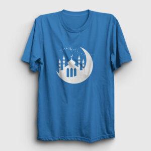 Cami ve Hilal Tişört açık mavi