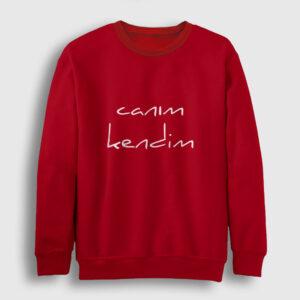 Canım Kendim Sweatshirt kırmızı