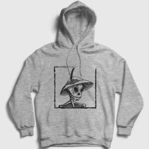 Catrina Kurukafa Kapşonlu Sweatshirt gri kırçıllı
