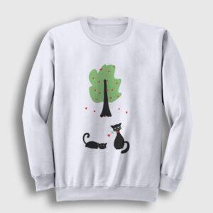 Cats In Love Sweatshirt beyaz