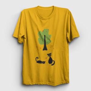 Cats In Love Tişört sarı
