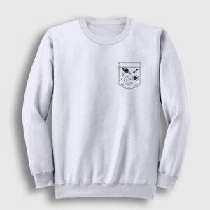 Cebimde Gezegenler Sweatshirt beyaz
