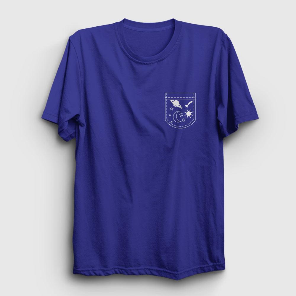 cebimde gezegenler tişört koyu mavi