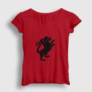Cerberus Kadın Tişört kırmızı