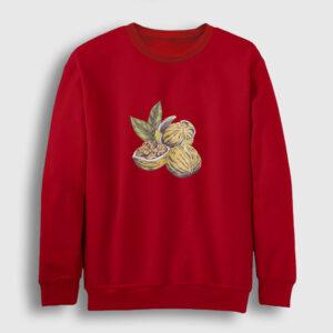 Ceviz Sweatshirt kırmızı