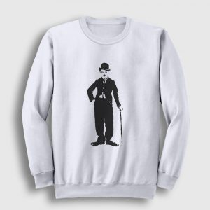 Charlie Chaplin Sweatshirt beyaz
