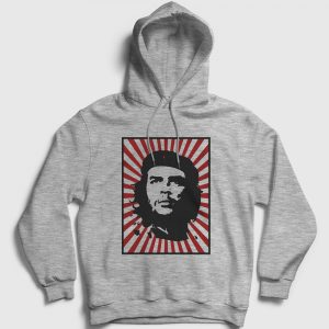 Che Guevara Kapşonlu Sweatshirt – Güneş gri-kircilli