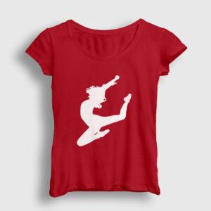 Cheerleader Kadın Tişört kırmızı
