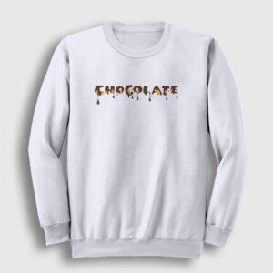 Chocolate Sweatshirt beyaz