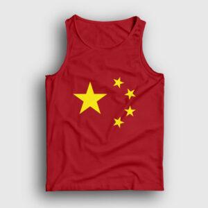 Çin Bayrağı Atlet kırmızı