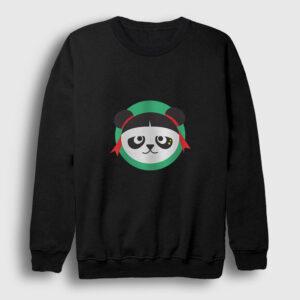 Çinli Panda Sweatshirt siyah