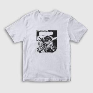 Çizgi Roman Bang Çocuk Tişört beyaz