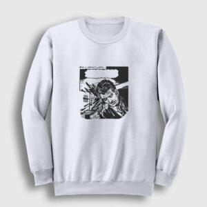 Çizgi Roman Bang Sweatshirt beyaz
