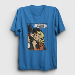 Çizgi Roman Depresyon Tişört açık mavi