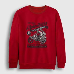 Classic Moto Racer Sweatshirt kırmızı