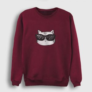 Cool Cat Sweatshirt bordo