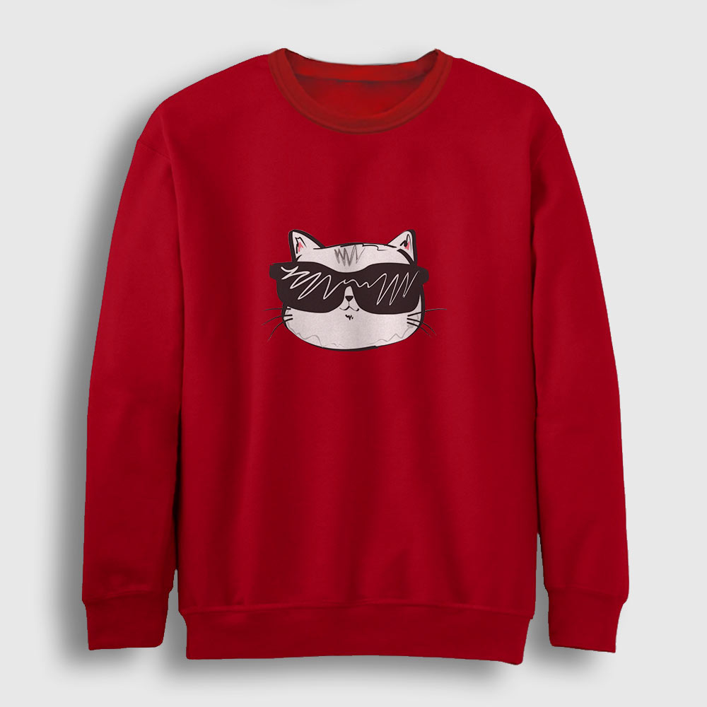 Cool Cat Sweatshirt kırmızı