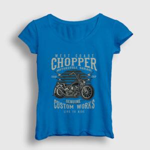 Custom Chopper Kadın Tişört açık mavi