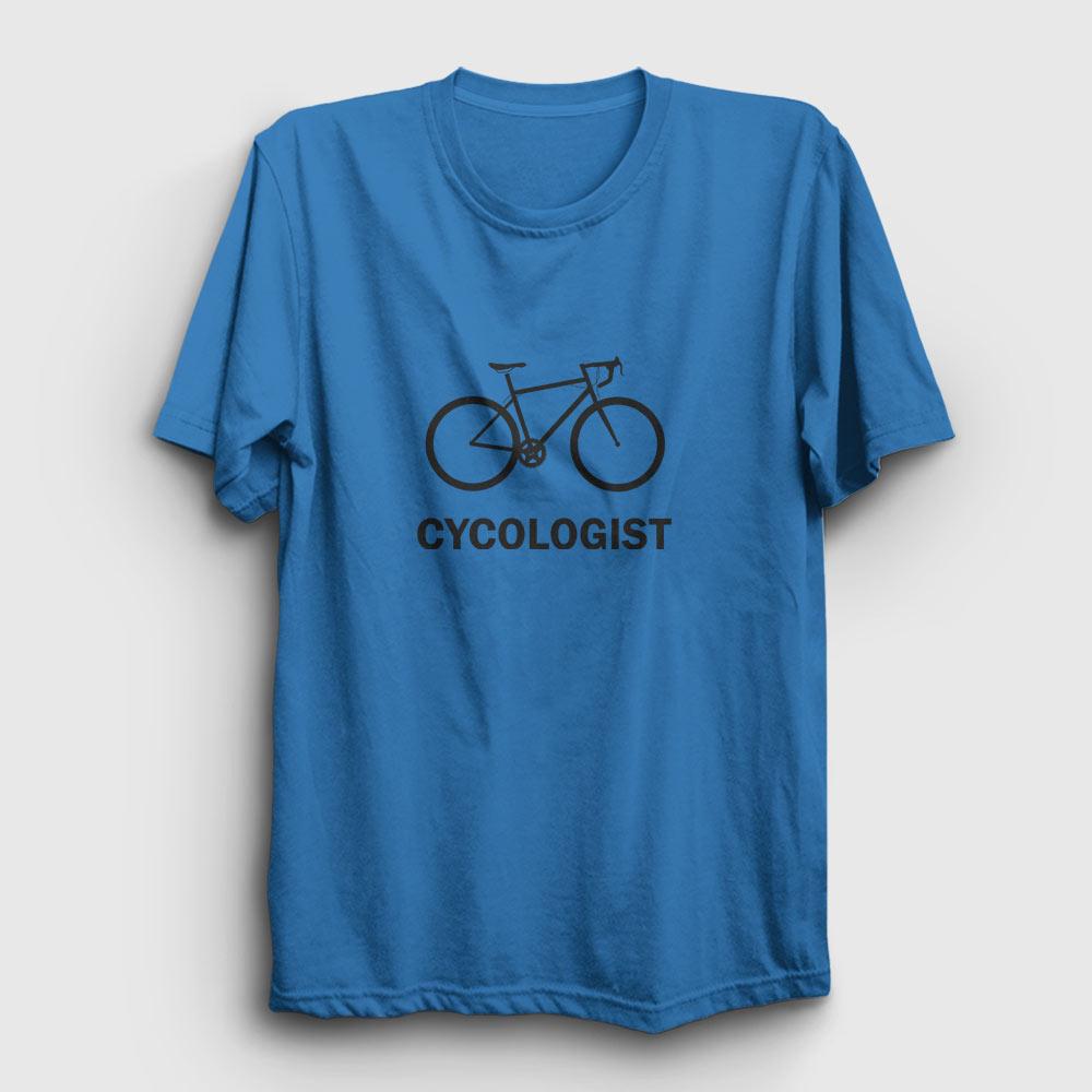 cycologist tişört açık mavi