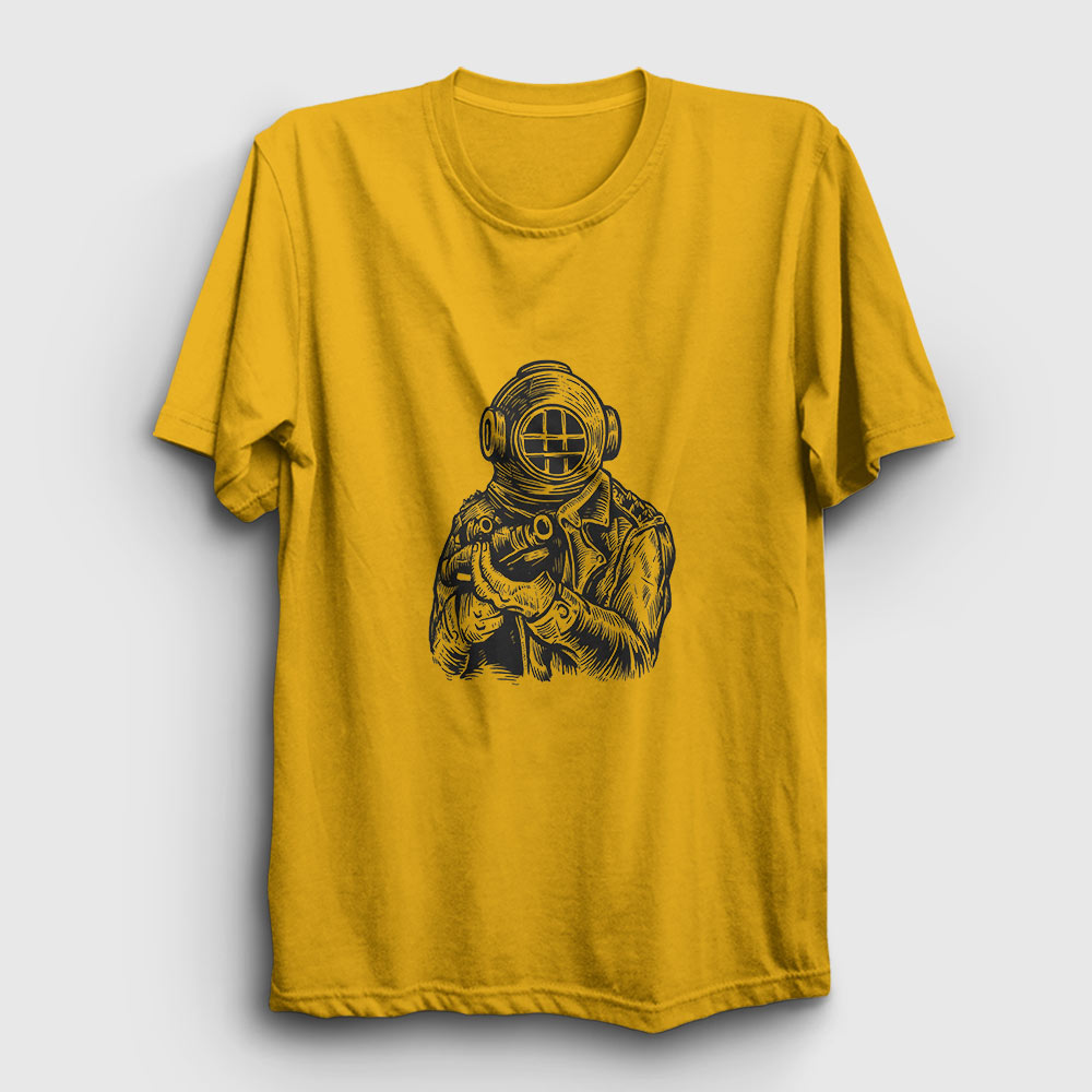 dalgıç asker tişört sarı