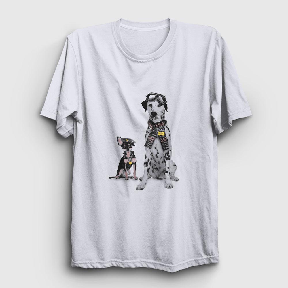 dalmaçyalı köpek tişört beyaz