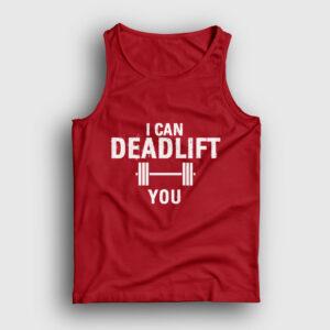 Deadlift Atlet kırmızı