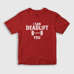 Deadlift Çocuk Tişört kırmızı