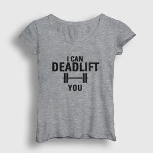 Deadlift Kadın Tişört gri kırçıllı