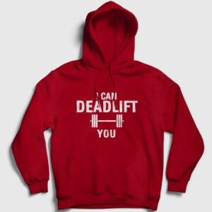 Deadlift Kapşonlu Sweatshirt kırmızı