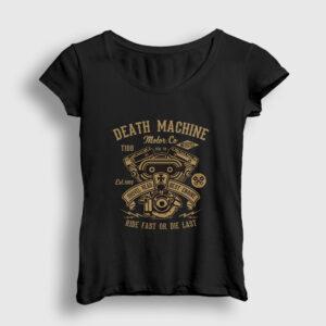 Death Machine Kadın Tişört siyah