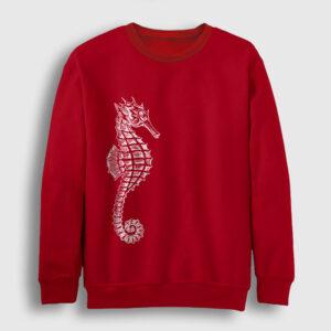 Deniz Atı Sweatshirt kırmızı